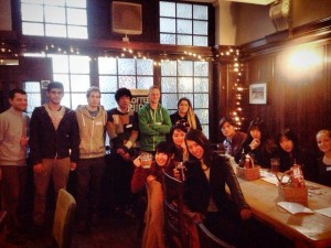 Monday drinks, English Course in the UK