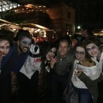 Gherardo in Covent Garden with some zombies!
