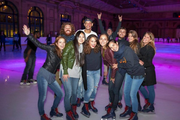 ESOL UK courses students Ice skating