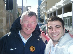 Sir Alex Ferguson and Matthew Bezzina