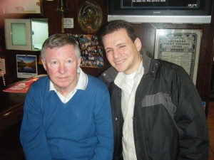 Sir Alex Ferguson and Simon Formosa