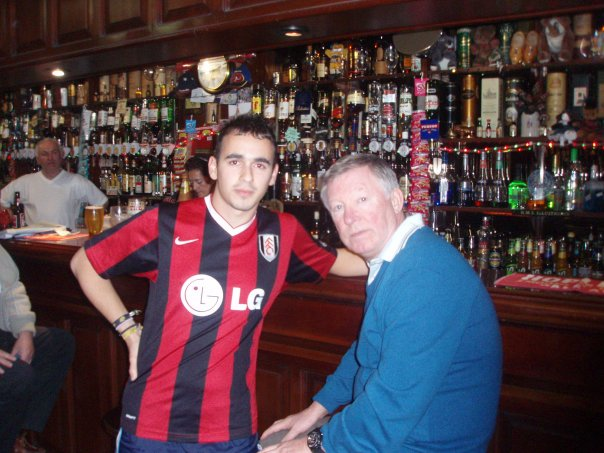 Sir Alex Ferguson and student David Lopez Reguera