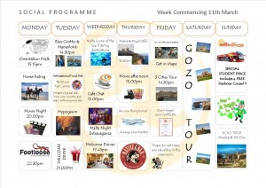 Social Programme Week 11th Mar. 13