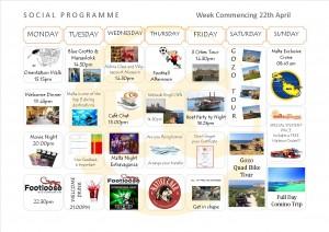 Social Programme Week 22th April 13