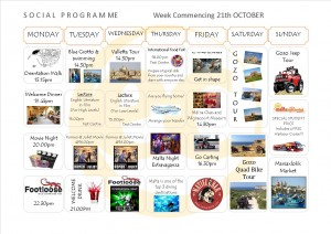 Social Programme Week 21th Oct  13
