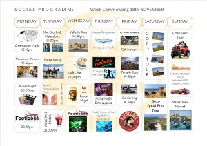 Social Programme Week 18th Nov  13