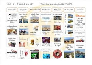 Social Programme Week 2nd Dez  13