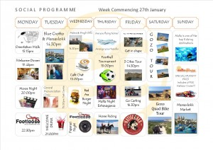 Social Programme Week 27th Jan. 2014 (NEW)