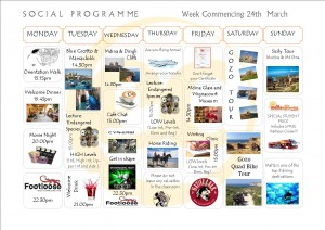 Social Programme Week 24th March 2014 (NEW)