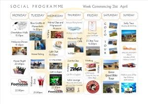 Social Programme Week 241st April 2014 (NEW)