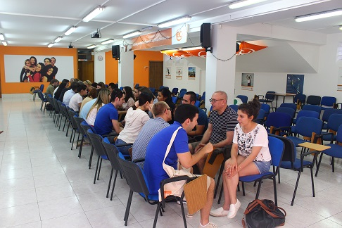 "English Language students at ""meet and greet"" event in Malta"