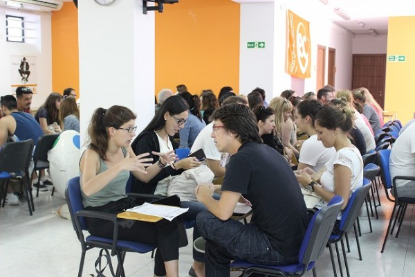 "Students who learn English in Malta enjoy a ""Meet and Greet"" event!"