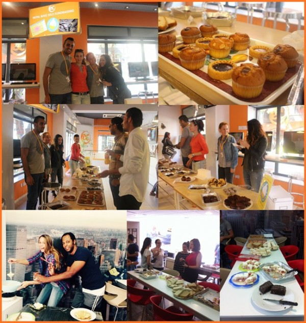EC Central and EC Malta Language School Nepal Bake Sale Fundraising