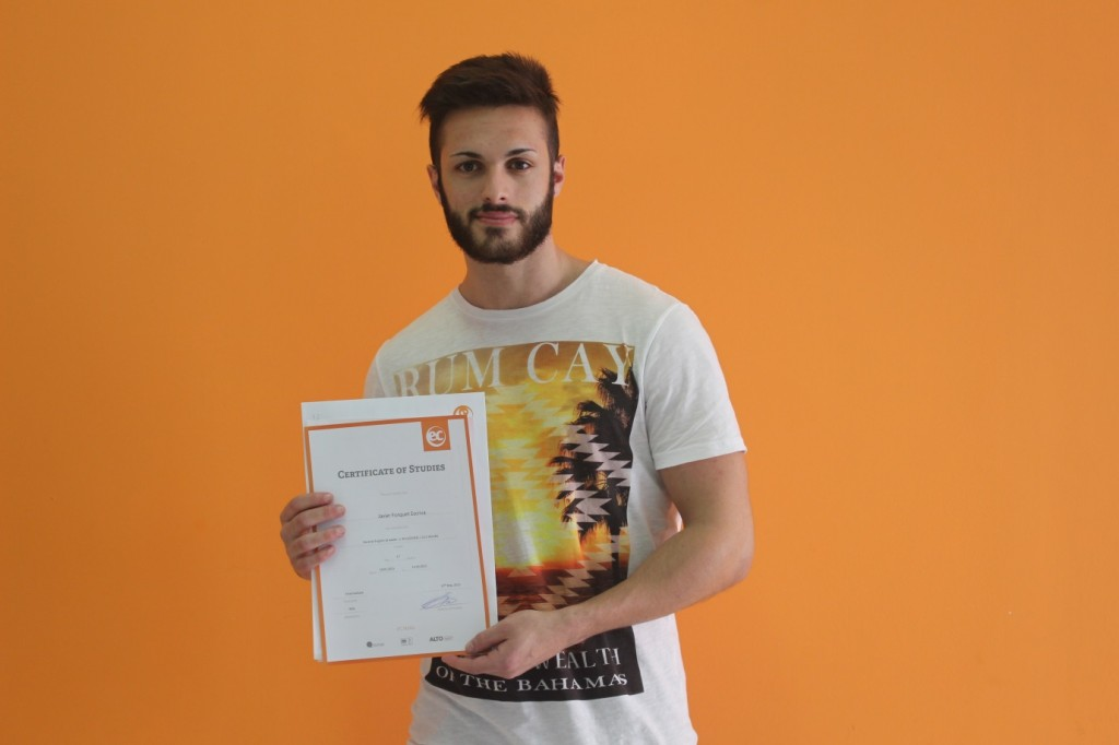 """A great experience at EC Malta"" - Spanish Student  Javier"