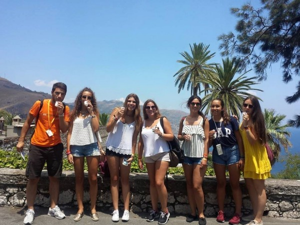 Spanish students enjoy learning English in Malta