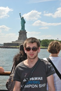 Adam and the Statue of Liberty!