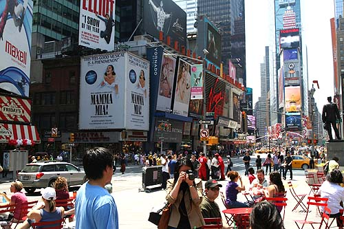 Times Square: A few steps away from EC New York
