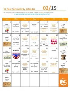 Feb calendar