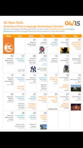 April's Activity Calendar