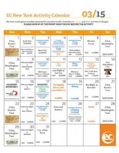 March's Activity Calendar