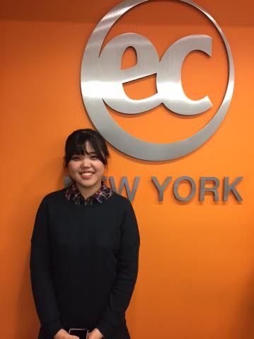 Minah is studying English in New York with EC!