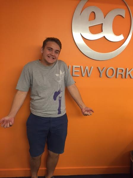 Daniel Cervinka from the Czech Republic studied English in New York with EC
