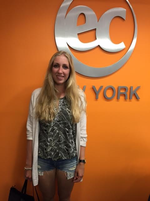 Kim from the Netherlands just completed 10 weeks of English classes in New York