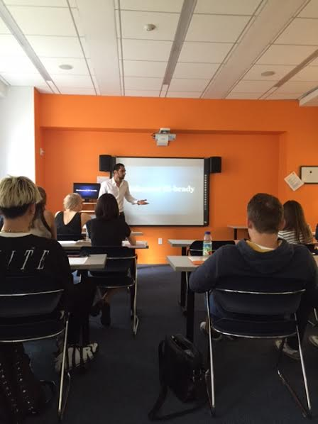 Student Presents AY Lecture on the Egyptian Revolution during English classes in New York