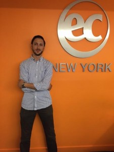 Claudio from Switzerland is learning English at EC New York