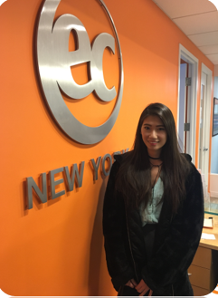 Taiwanese student, Hsin-Yu came to EC New York to improve her English