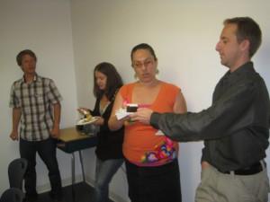 EC San Diego teachers enjoy the sweet treat.