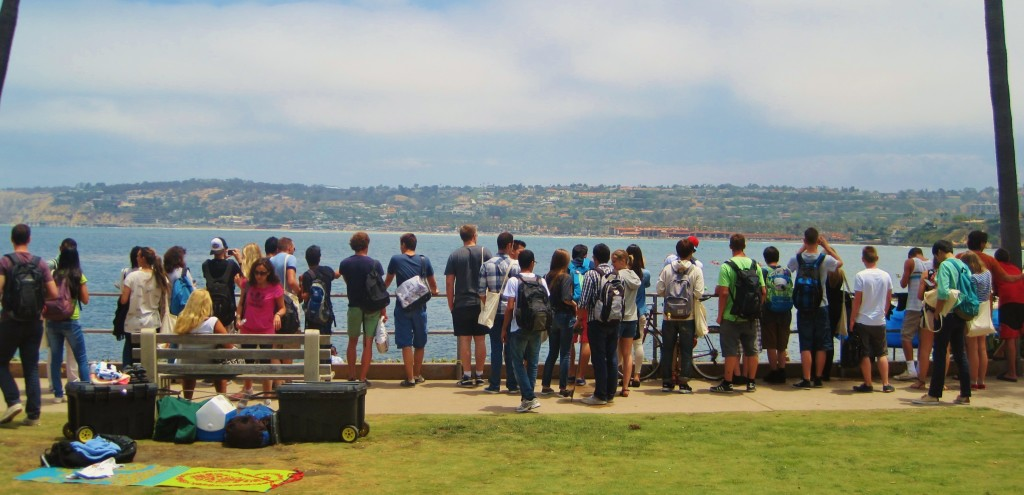 New ECSD students marvel at the view over La Jolla Cove (July 8, 2013)