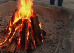 "The ""tee-pee"" structure makes a bonfire catch quickly and last longer!"