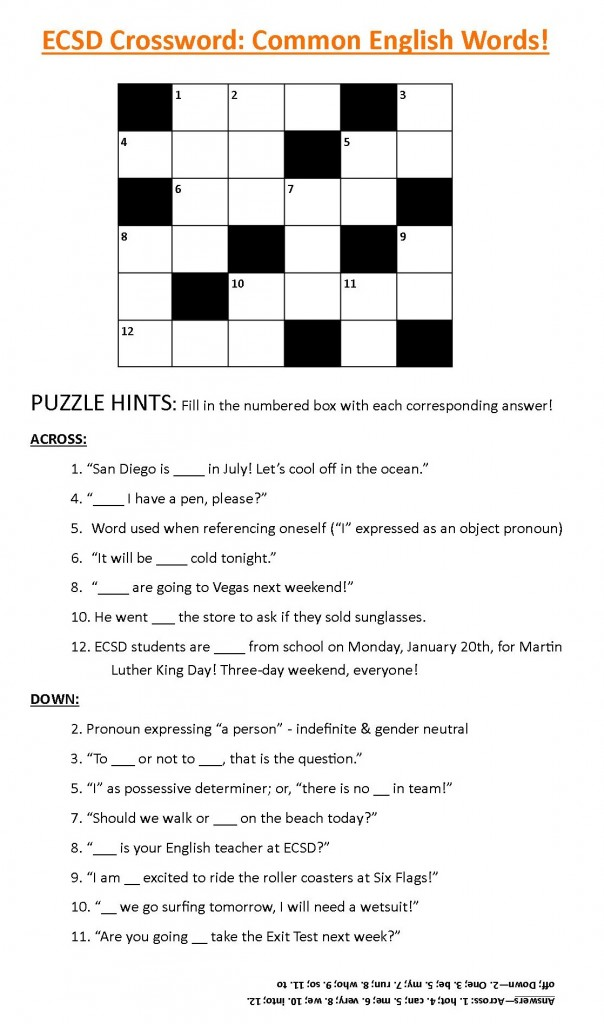 Crossword 1 Jan 10 14