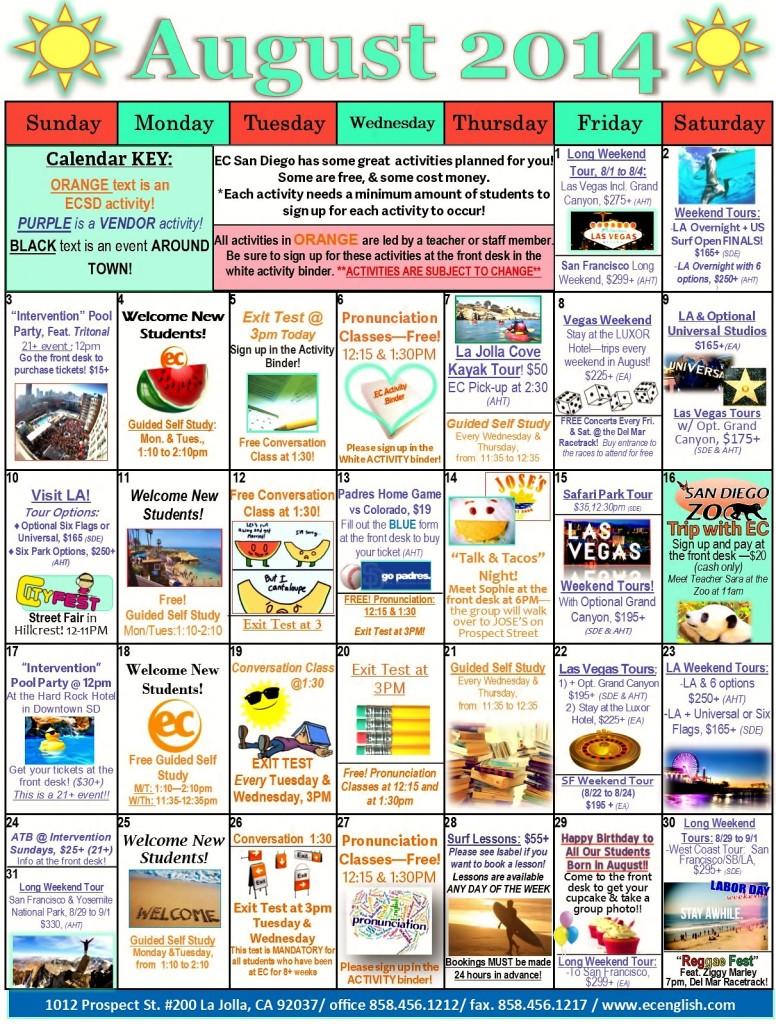 8 August 2014 Calendar JPEG