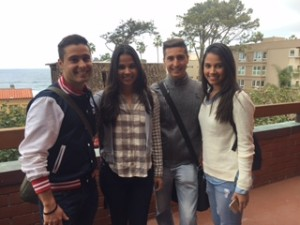 Three  sets of twins study English at EC San Diego!