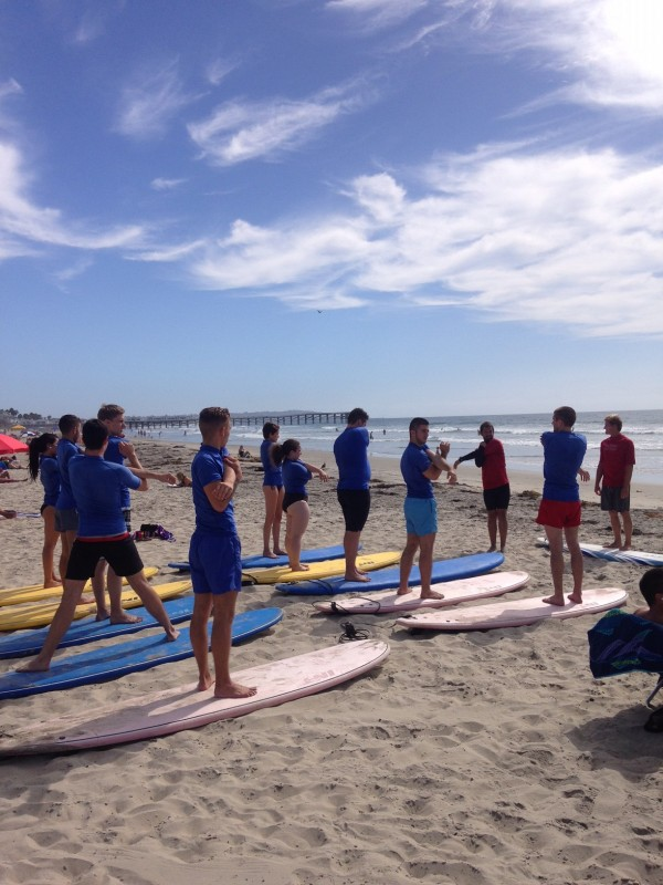 EC San Diego English School Students Surfing in San Diego