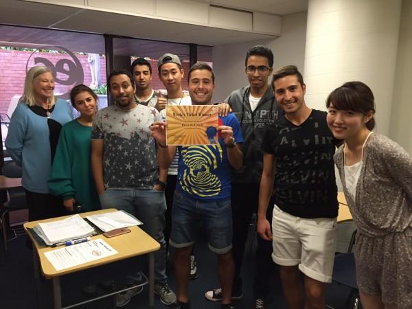 Riccardo always speaks English at the EC San Diego Language Center