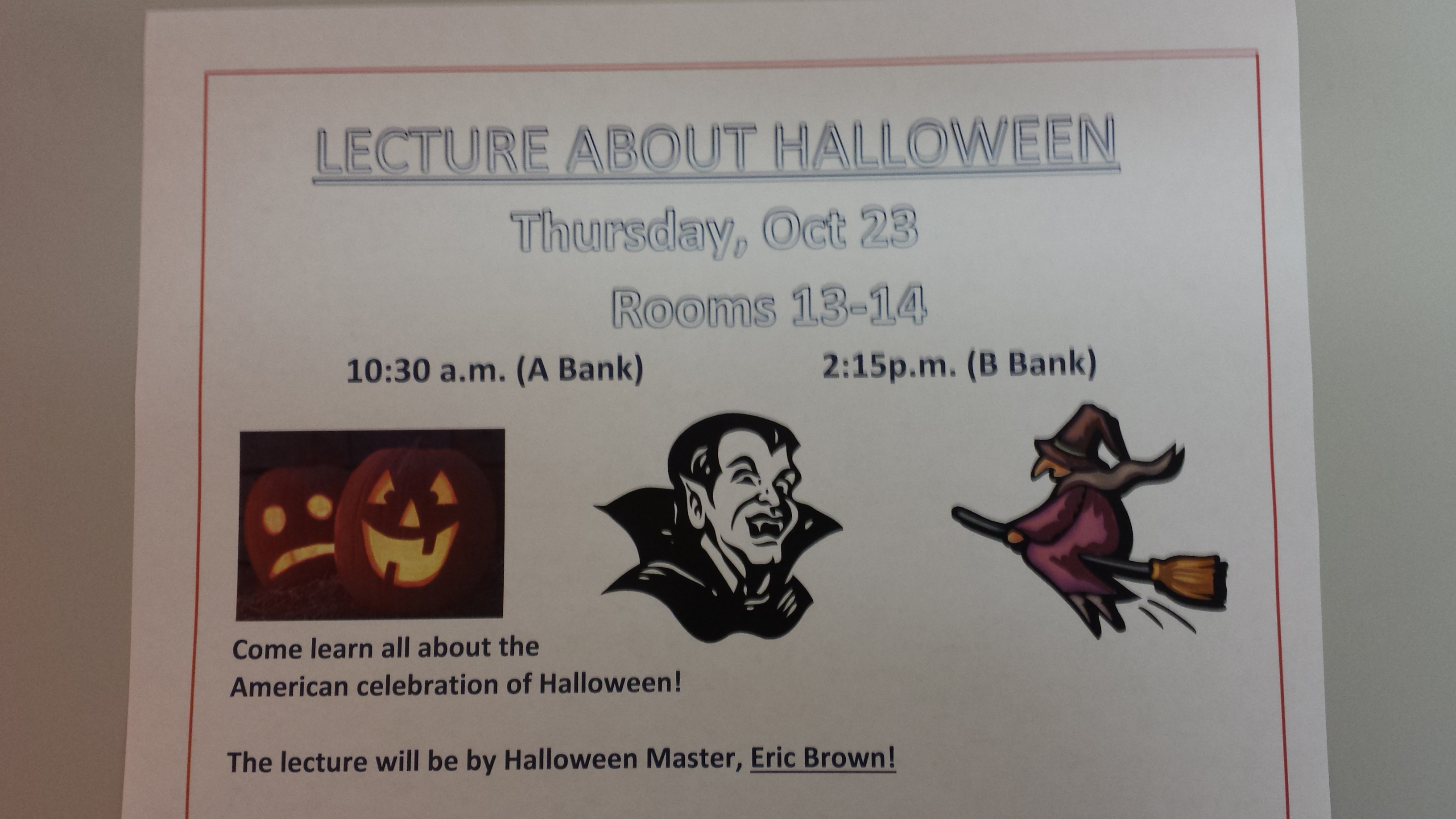 Halloween Lecture