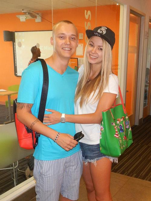 Alexander and Anastasia take ESL Miami courses at EC!