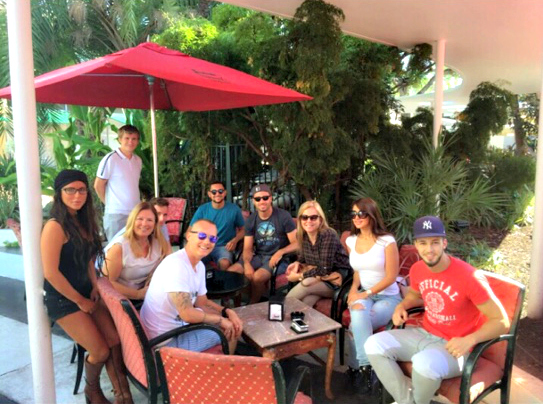 Coffee break during their English courses in miami for international students