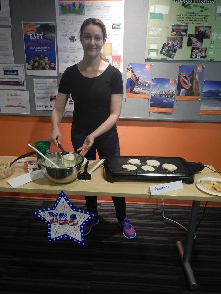 American Breakfast activity at ESL Miami school