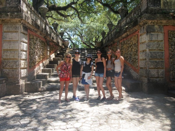 Students who learn English in Miami with EC visit Vizcaya Museum and Gardens