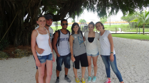 Students were given the opportunity to explore the tropical wetlands in the state of Florida