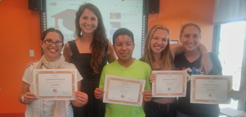 A group of students participated the Youth Language Link; a partnership between EC Miami and City of Miami Beach