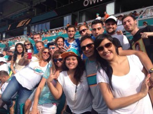 EC Miami's students and intern watched an exciting football game last Sunday