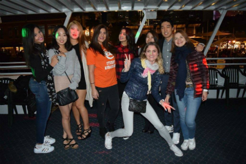 Zelal, EC Miami's Student Ambassador, led the Dance Cruise activity two weeks ago