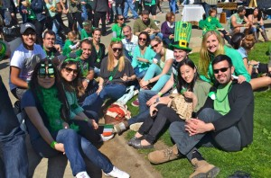 EC San Francisco Students enjoying the fun and wearing green!