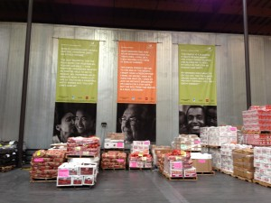 The Foodbank is a huge modern warehouse that supplies food to those in need all over San Francisco.