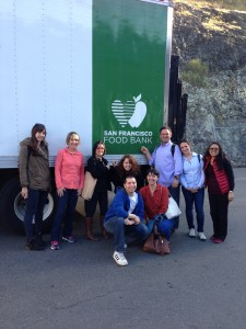 EC San Francisco staff and teachers at the San Francisco Foodbank for a volunteer day.